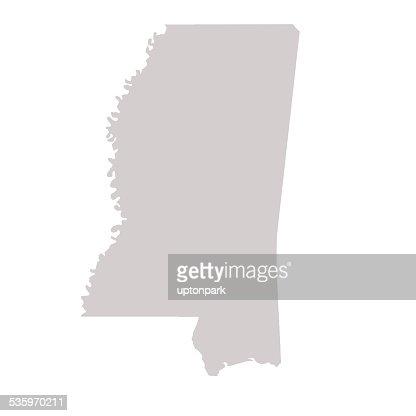 Mississippi State map : Stock Illustration