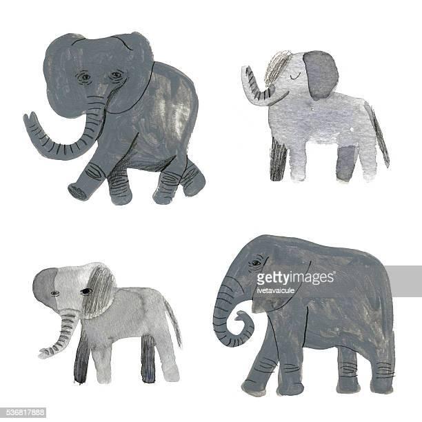 Mixed media hand painted elephant