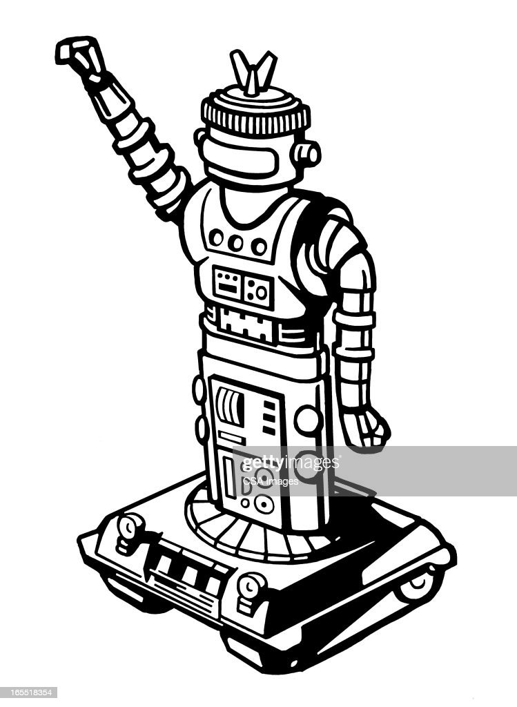 Mobile Robot : Stock Illustration