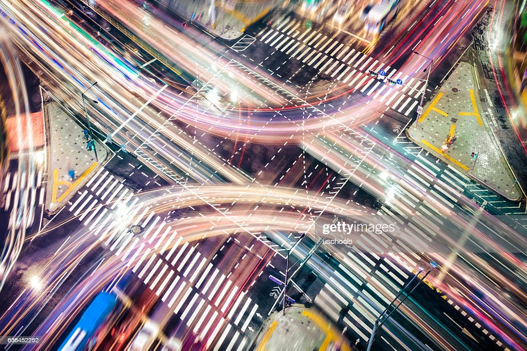 Modern City Concepts: intersection : Stock Illustration
