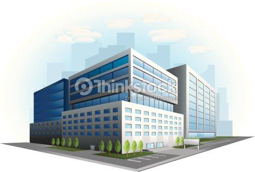 Immeuble de bureaux moderne illustration clipart vectoriel thinkstock