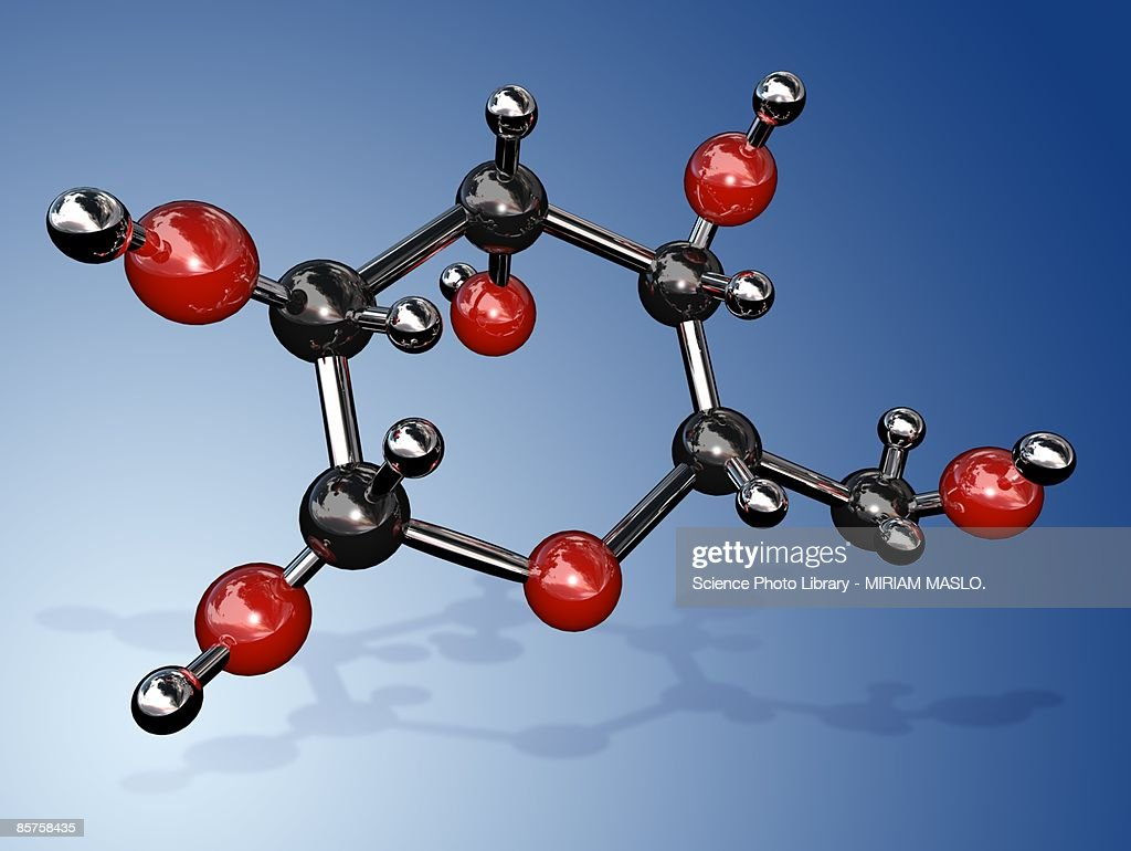 Molecular structure of glucose : Stock Illustration