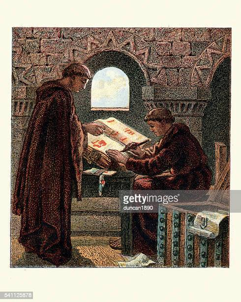 Monks writing the Domesday Book
