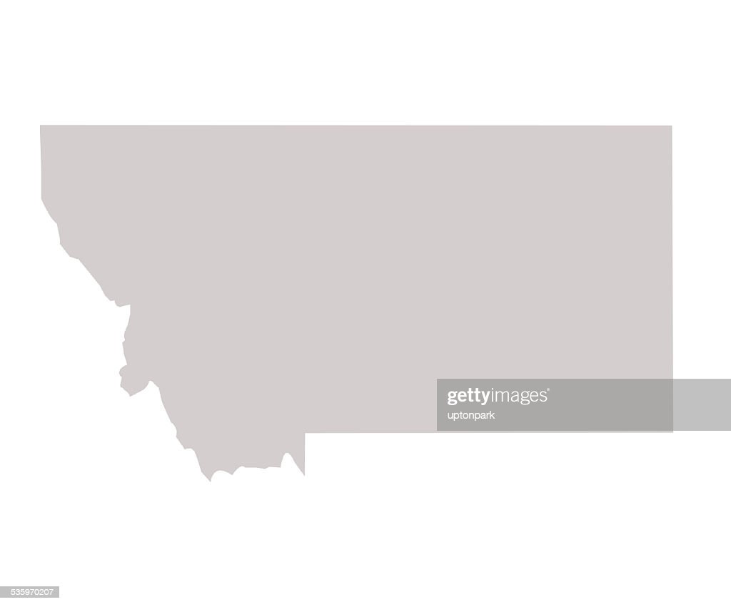Montana State map : Stock Illustration