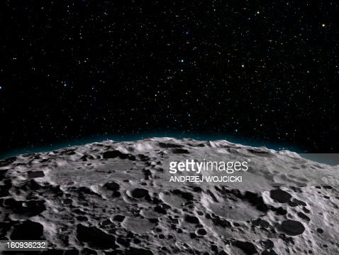 Moon's surface, artwork : Stock Illustration