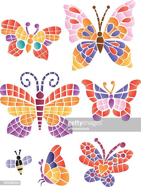 Mosaic butterflys
