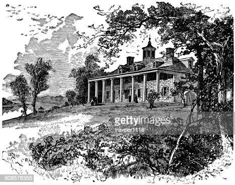Mount Vernon : Stockillustraties