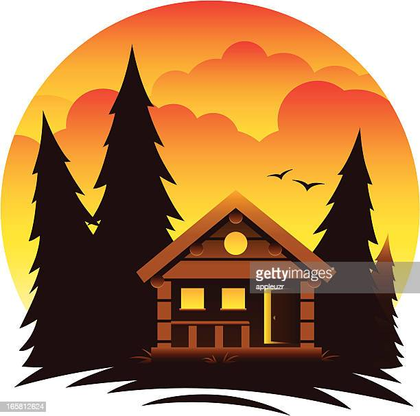 Log Cabin Stock Illustrations And Cartoons Getty Images