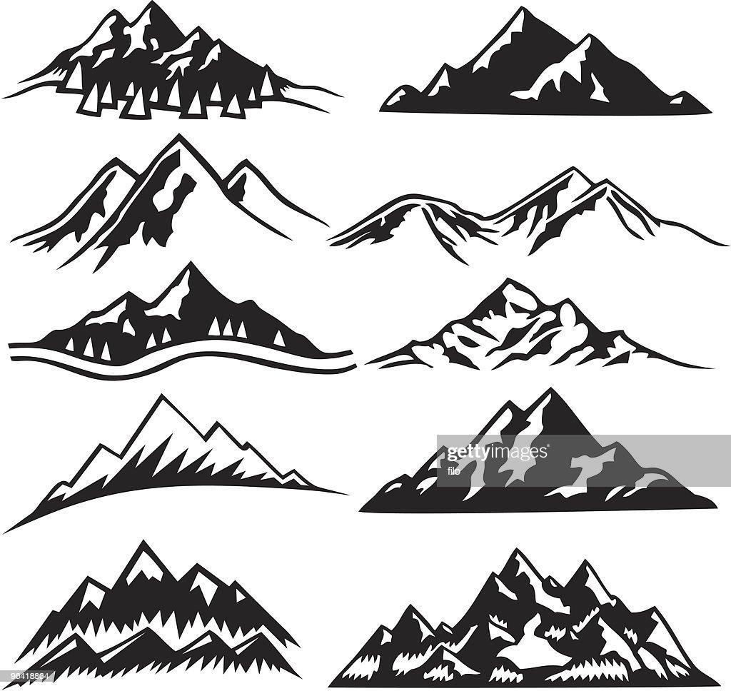 Mountain Ranges : Vector Art
