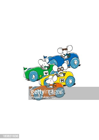 Mouse race illustration : Stock Illustration