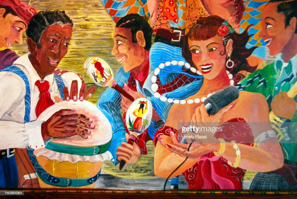 Mural in the House of Blues, West Hollywood. : Stock Illustration
