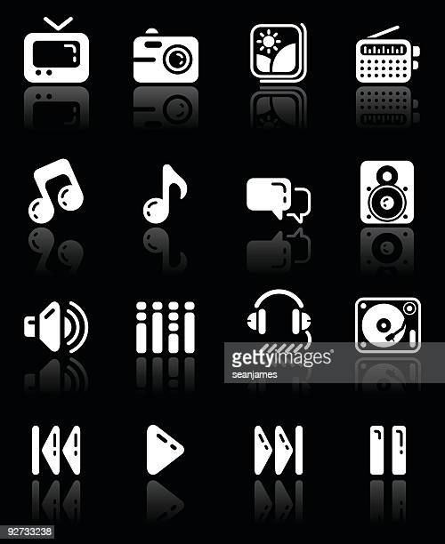 Music and Media Icons