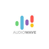an amazing audio wave symbol illustration for your music business