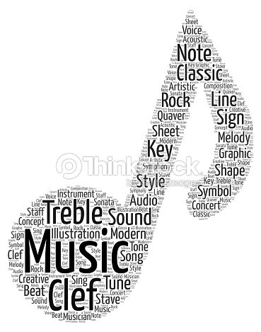 Símbolo De La Música Word Cloud Ilustración De Stock Thinkstock
