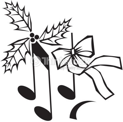 Musical Notes With Holly Ribbon A Musical Christmas Songs