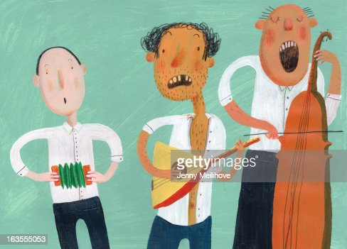 3 musicians : Stock-Illustration