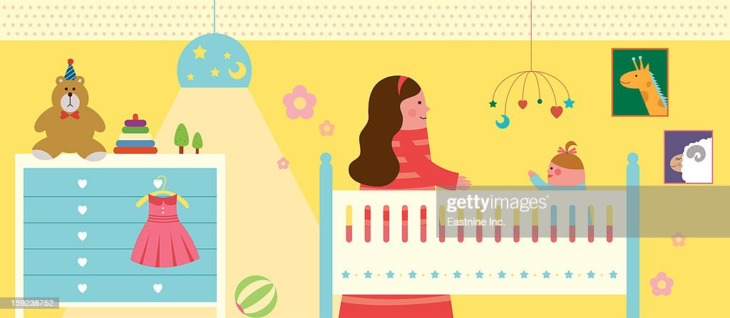 My baby room : Stock Illustration