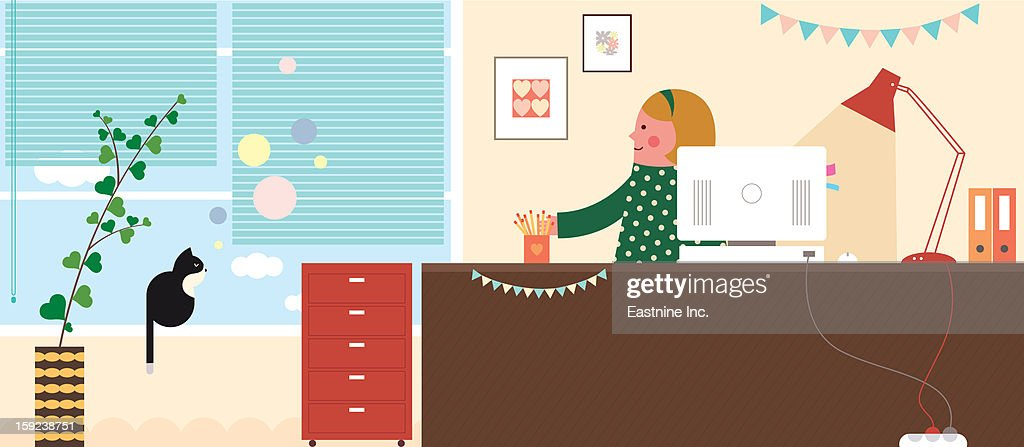 My room interior : Stock Illustration