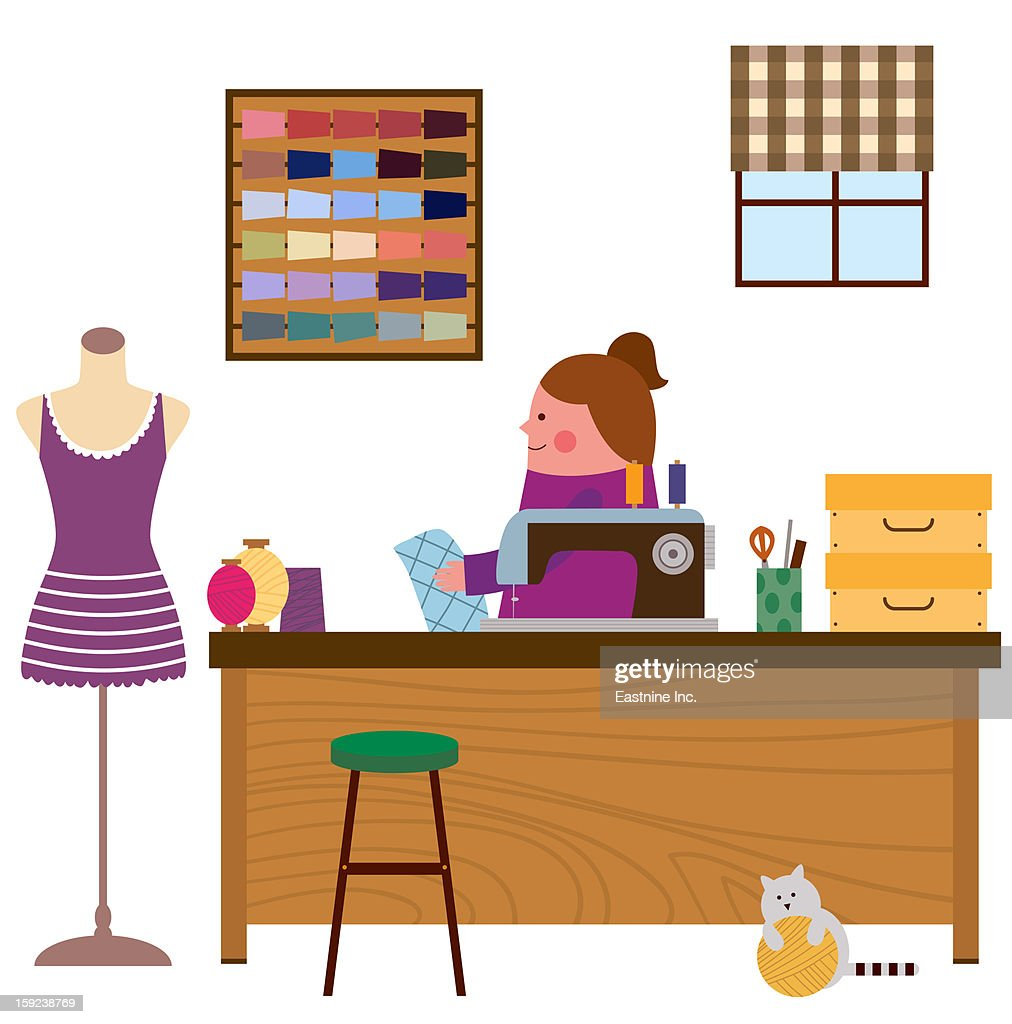 My workroom : Stock Illustration