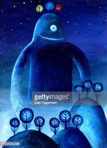 Mystery Planet Alien Monster : Ilustración de stock