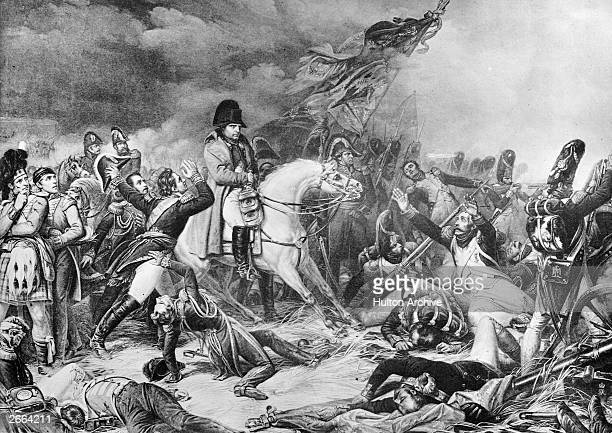 Napoleon's retreat from the Battle of Waterloo Original Artwork After a painting by Steuben