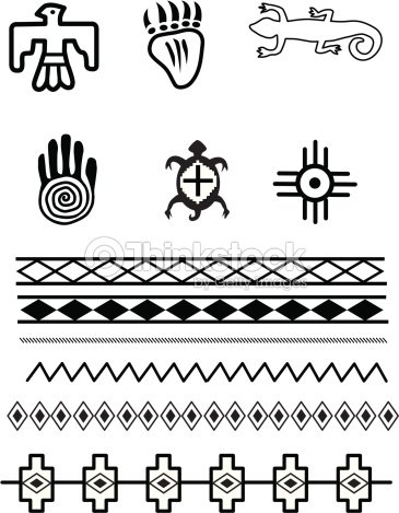 Native American Symbols Stock Vector Thinkstock