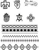 Native American symbols and patterns, Original illustrations