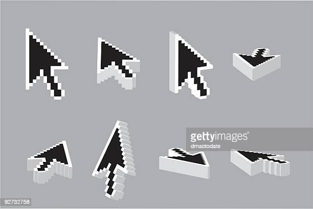 3D Negative Arrow Cursor