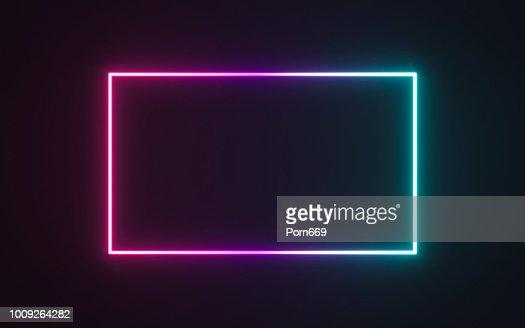Neon frame sign : Stock Illustration