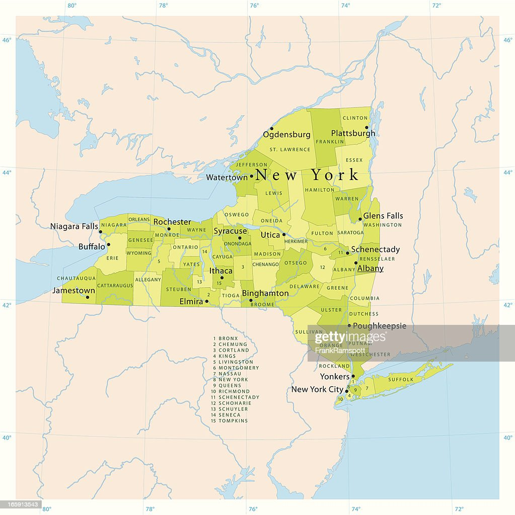 New York State Vector Map Vector Art Getty Images - New york state map