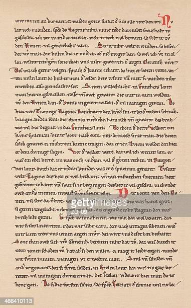Nibelungenlied (13th century), facsimile, published 1879