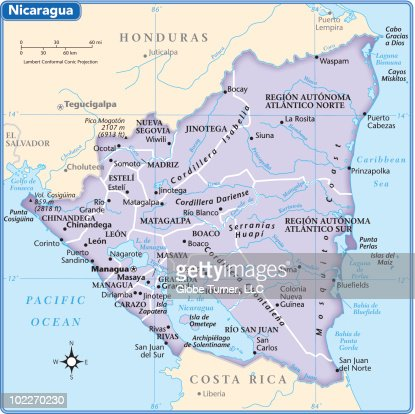 Nicaragua Country Map Vector Art Getty Images - Country map of nicaragua