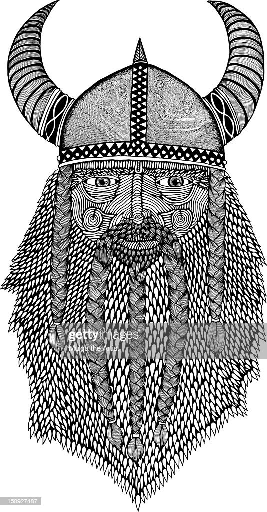 A Nordic warlord : Stock Illustration