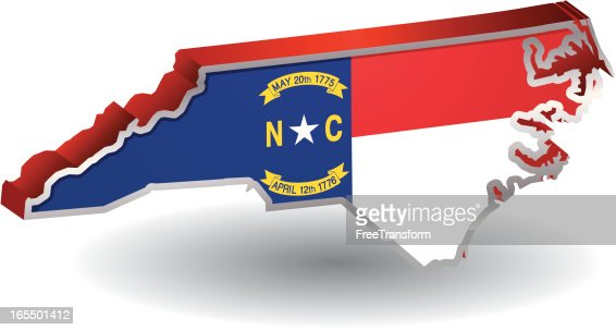 North Carolina Flag Map Vector Art  Getty Images