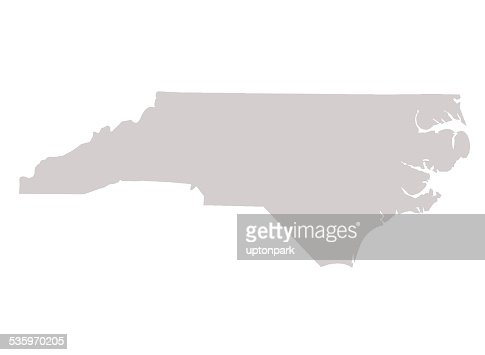 North Carolina State map : Stock Illustration