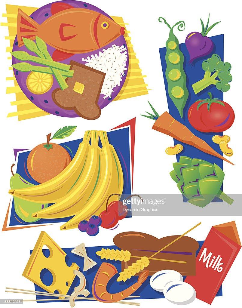 Four Food Groups Clip Art