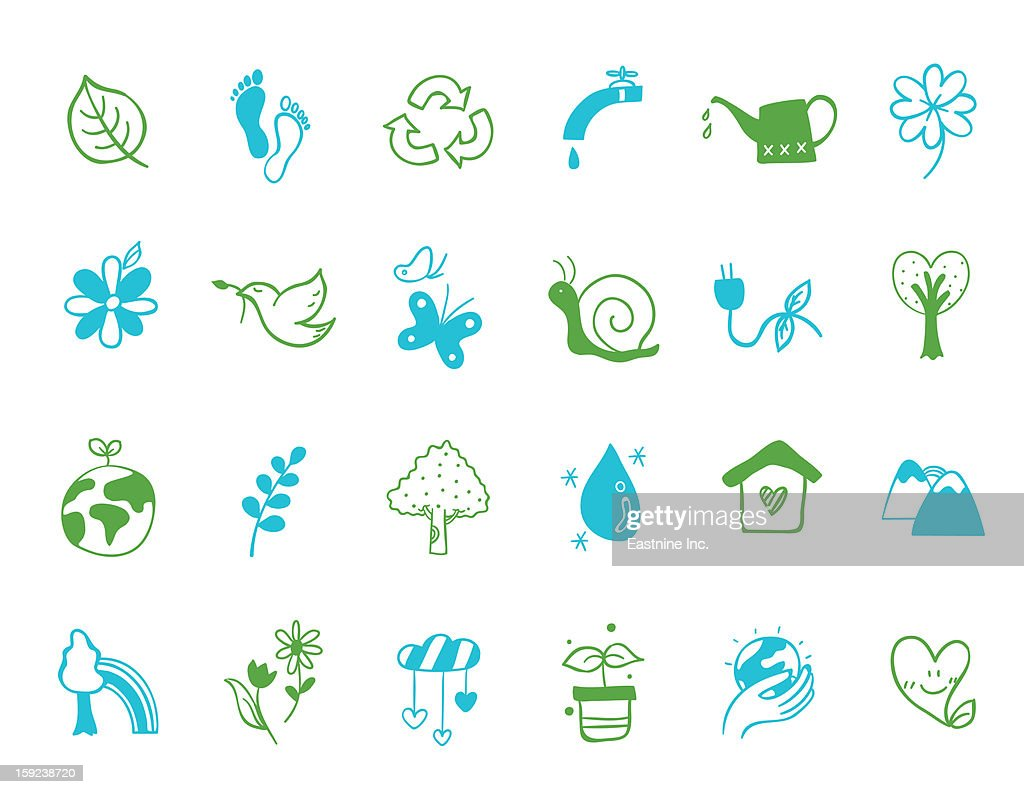 nuture Icon set : Stock Illustration