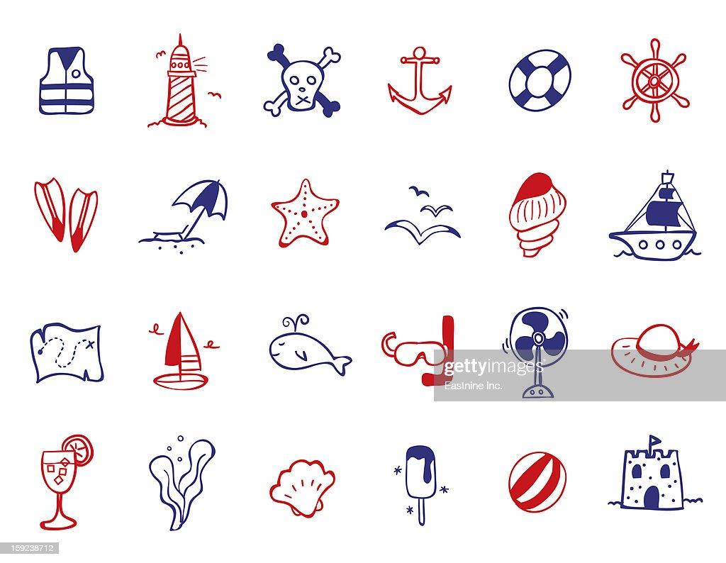 ocean Icon set : Stock Illustration