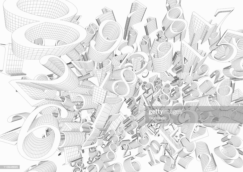 CG of the number : Stock Illustration