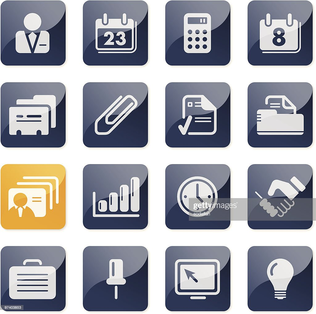 Office & Business icons | glossy series : Vector Art