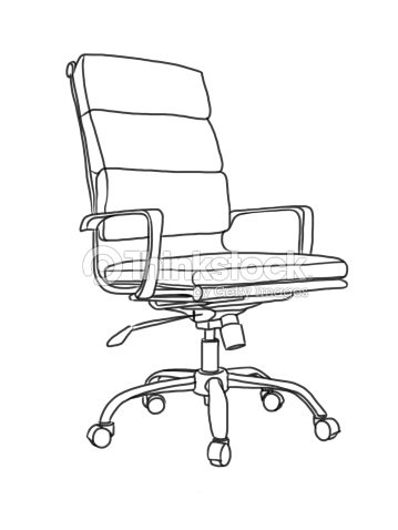 Office Chair Hand Drawing Illustration Stock