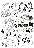 Lots of original doodles relating to the office and work. Check out my portfolio for similar images.