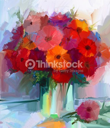 lgem lde rote gerbera blumen in vase stock illustration thinkstock. Black Bedroom Furniture Sets. Home Design Ideas