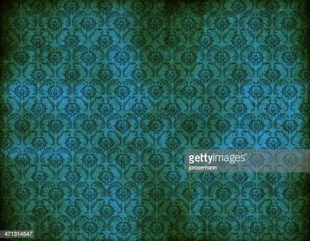 Viejo papel tapiz azul