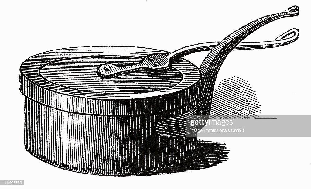 Old casserole (illustration) : Stock Illustration