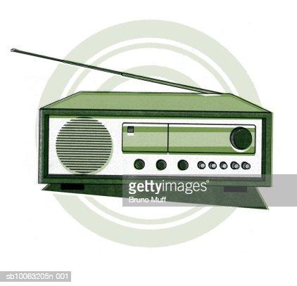 Old fashioned radio : Stock Illustration