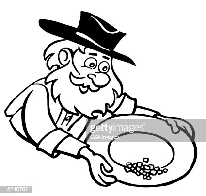 old man panning for gold stock illustration getty images
