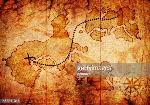 old treasure map : Stock Illustration