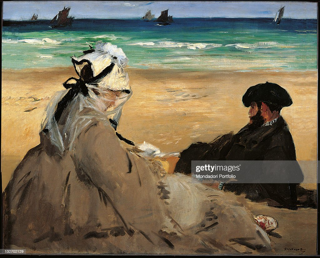 On the Beach, by Edouard Manet, 1873 about, 19th Century, oil on canvas, cm 59,5 x 73. : Fine art