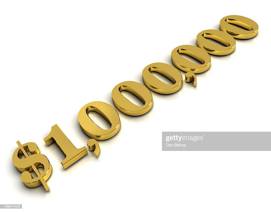 3D one million dollars : Stock Illustration